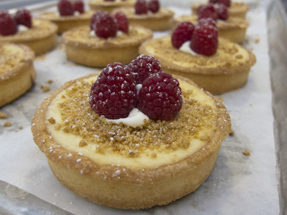 Raspberry custard tartlette