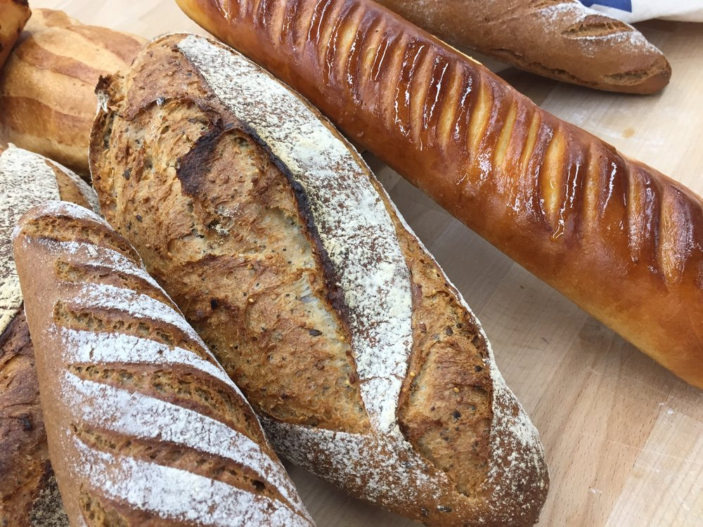 Day 2 breads: Rye, grain, milk bread baguette and more!