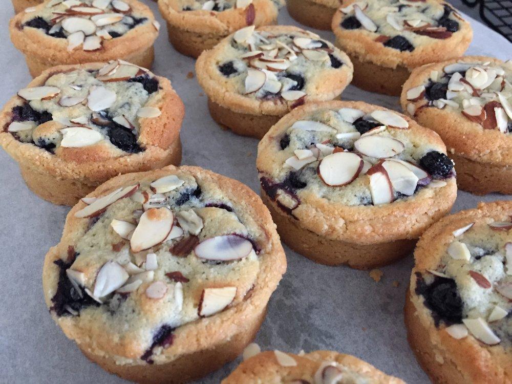 Breton blueberry almond tarts
