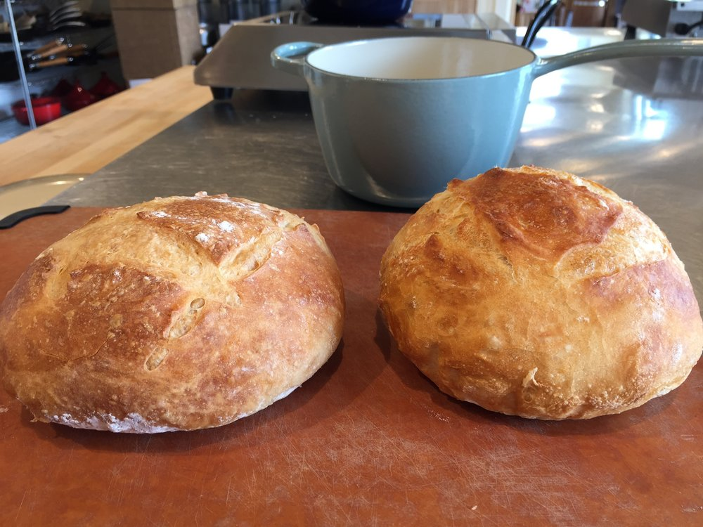 Rustic no knead loaves