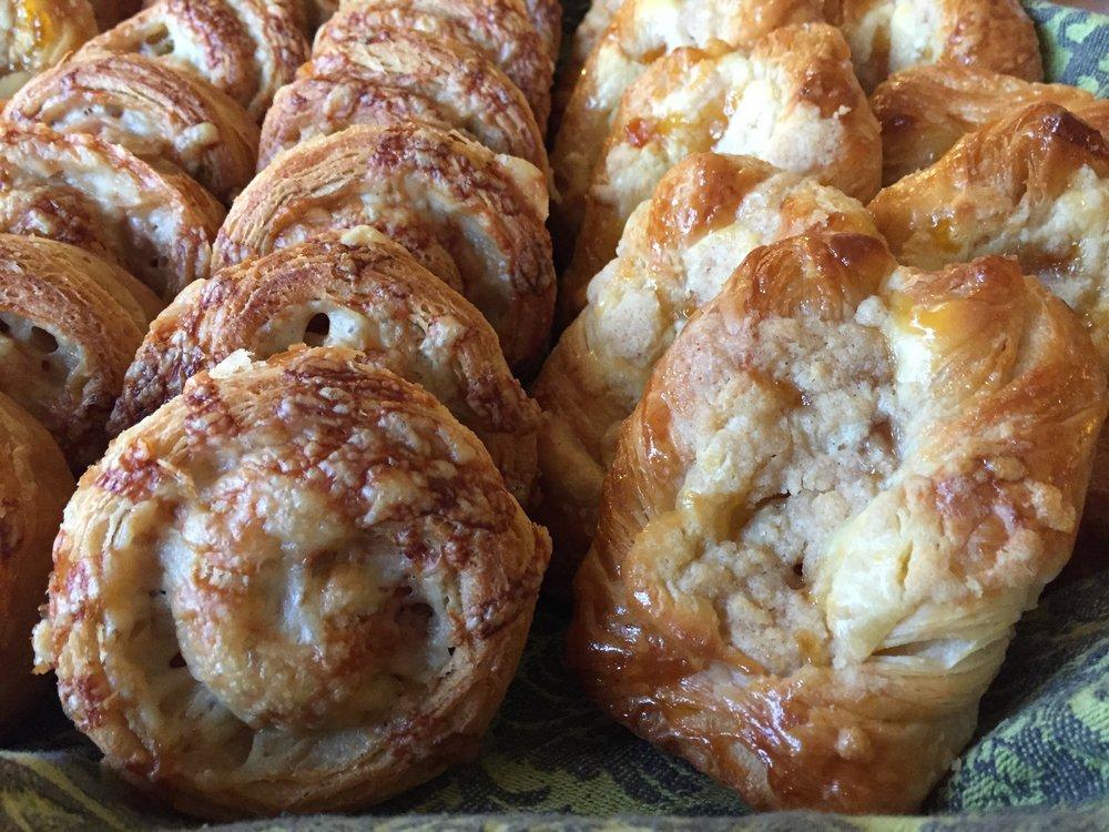 Ham/cheese spirals and Danish combo