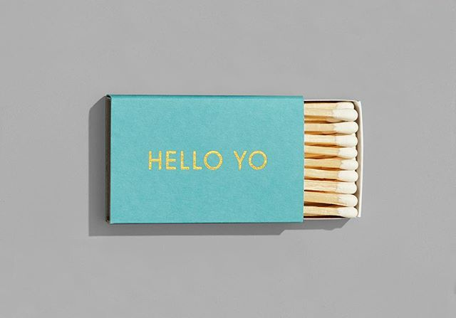 HELLO YO matches are here! 🔥 • • 📷 @bradbridgersfoto • • • • • #design #graphicdesign #designstudio #logo #logodesign #branding #brandidentity #visualidentity #typography #print #packaging #bestofpackaging #ladieswinedesign #itsnicethat #graphicdesigndaily #visualjournal #visualgraphc #welove #welovebranding #welovedaily #designfeed #designinspo #helloyo