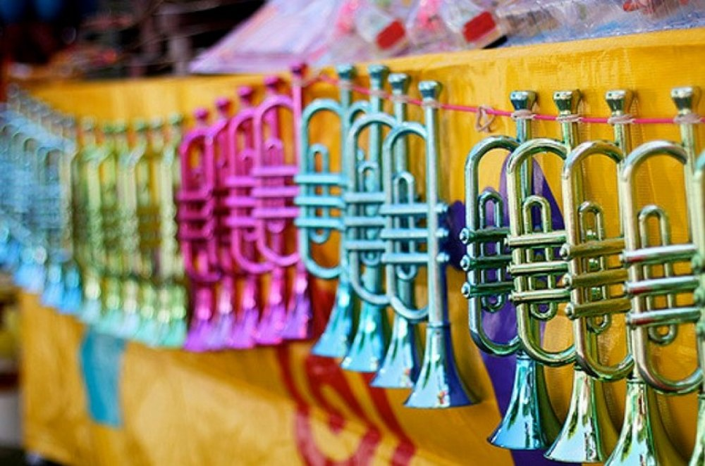 A picture of Jazz trumpets in spring colors