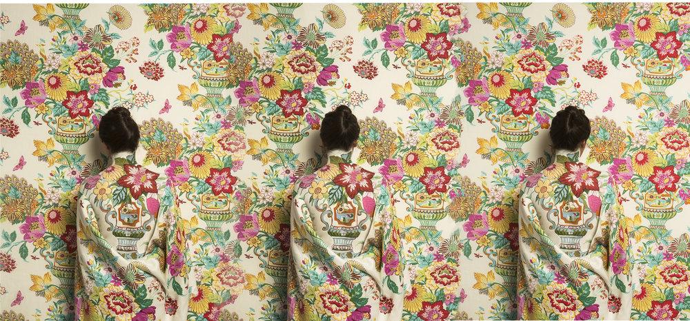 - Cecilia Paredes (Peru, b. 1950)The Three Graces / Las Tres Gracias, 2018Print on Belgian canvas / Impreso en canvas belga54 x 117 ¼ inches / pulgadasCourtesy of the artist and saltfineart / Cortesía de la artista y saltfineartDownload (JPG)