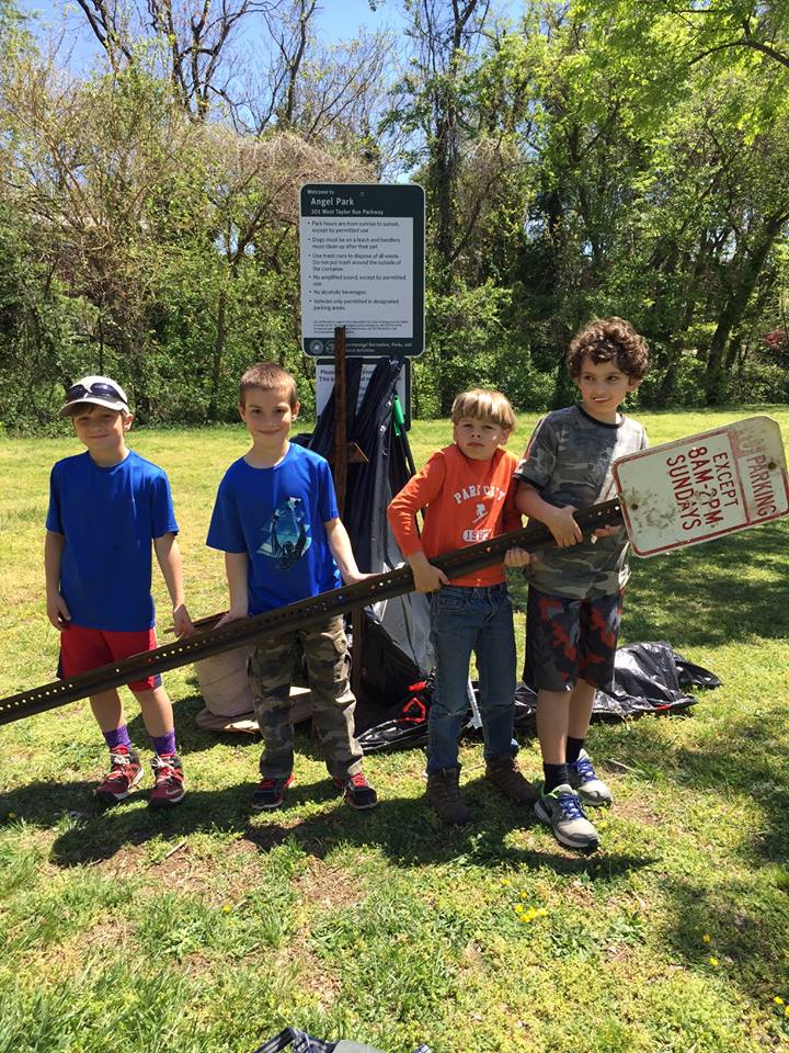 Park Cleanup! - We have adopted several neighborhood parks and clean them up weekly. Volunteer to help!
