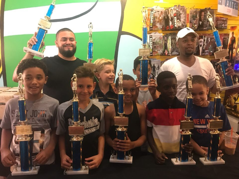 Westchester Athletics, Inc - Boys 9u Wolves celebration party for taking 1st place in a local recreation travel league