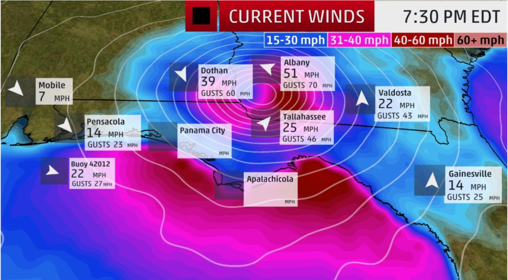 Last Updated: 10/10 5:00 P.M. (PT)    Image Source: The Weather Channel