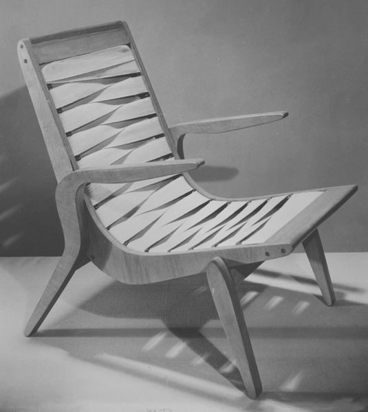 Relaxation cross-woven chair, 1947