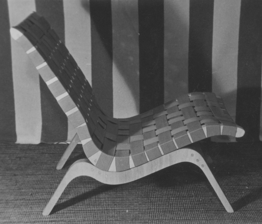 Relaxation interlaced woven chair, 1947