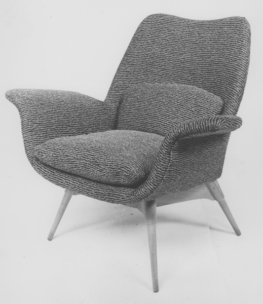 E1 Eleanor Contour elastic suspension armchair, 1954