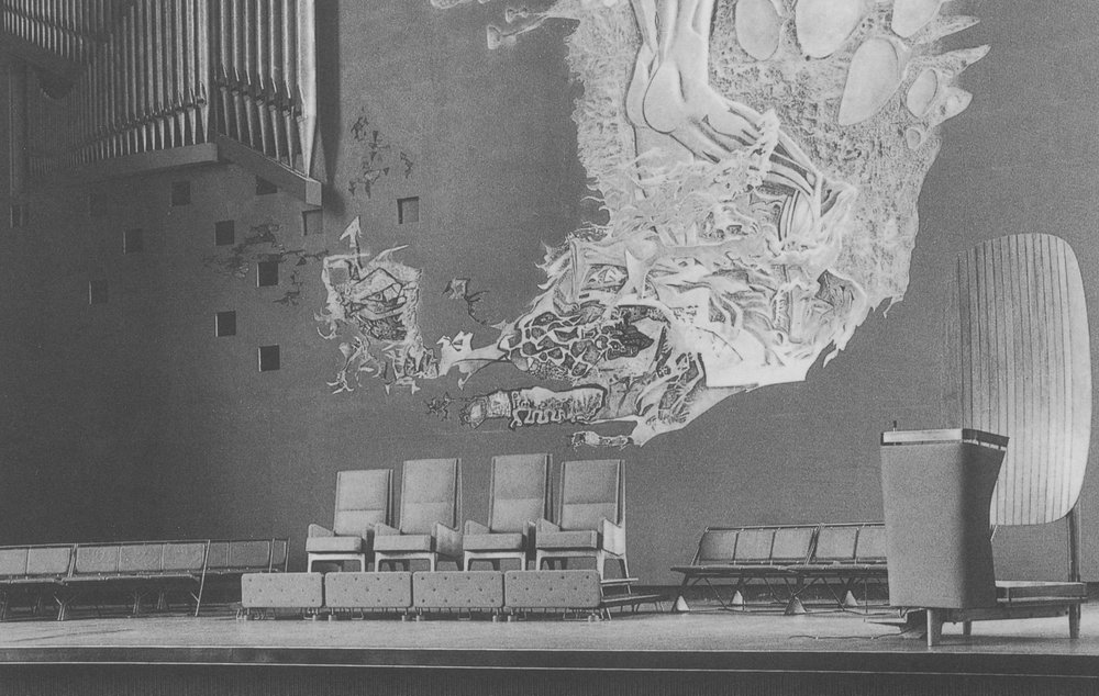 Wilson Hall ceremonial chairs, 1956