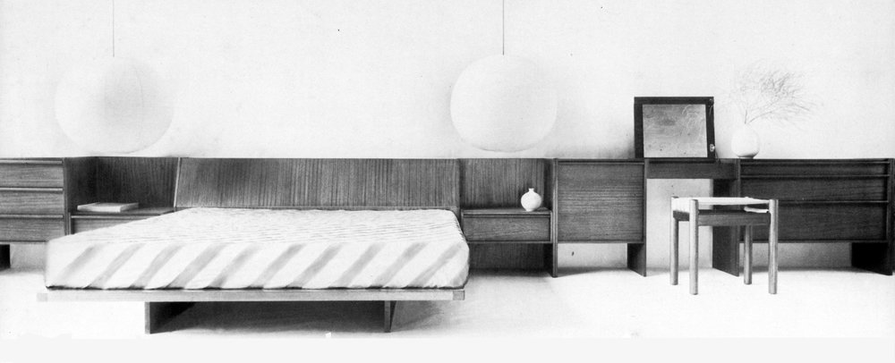 Multiple bedroom furniture range, 1972