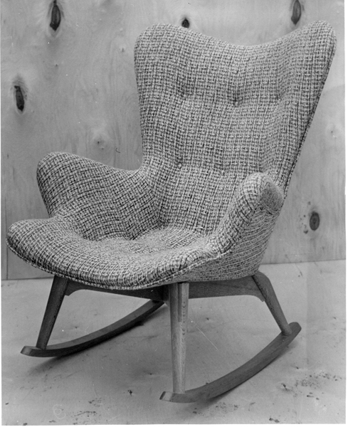B210 Contour rocking chair, 1953