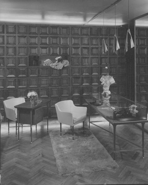 Irving Marcus boutique interior, 1956