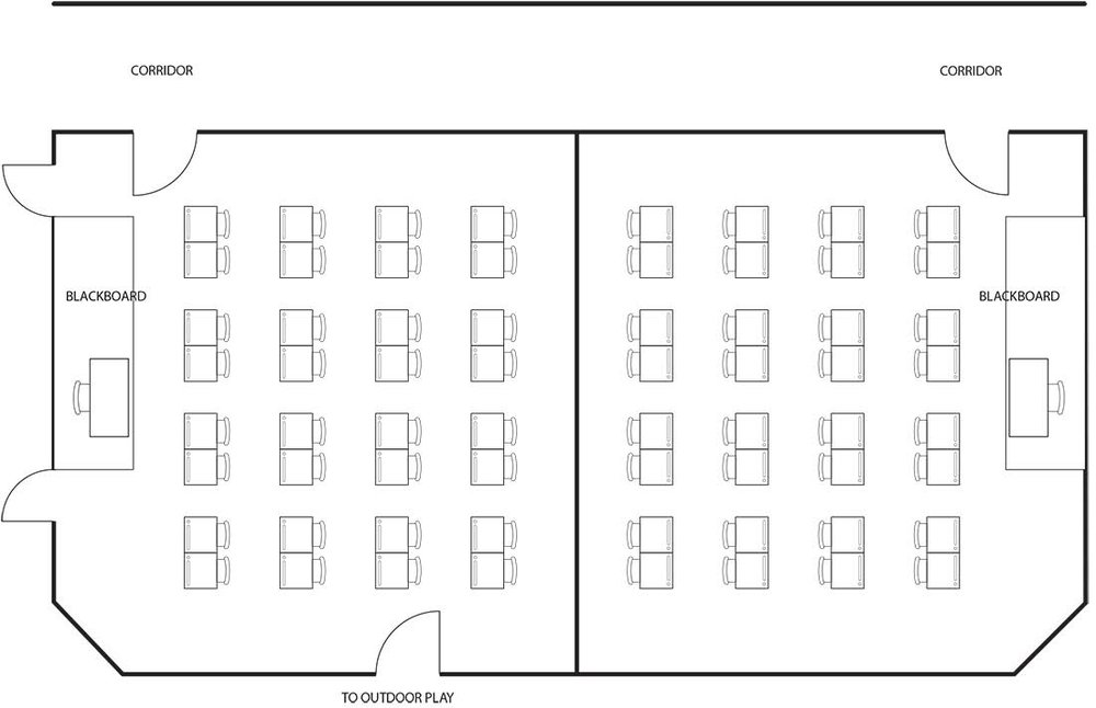 Traditional classroom layout