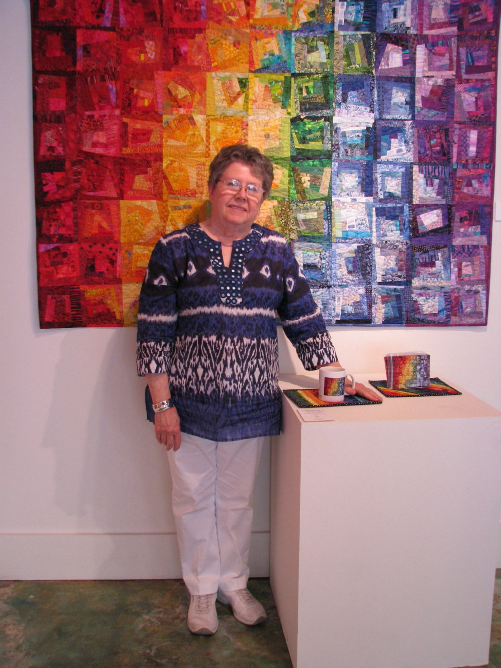 Wanda S. Hanson, in front of  Rainbow River  at her Exhibit in NC.