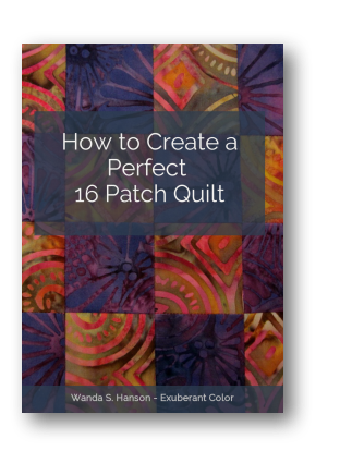 Exuberant Color 16 Patch Quilt Tutorial