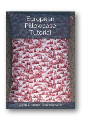 European Pillowcase Tutorial Exuberant Color