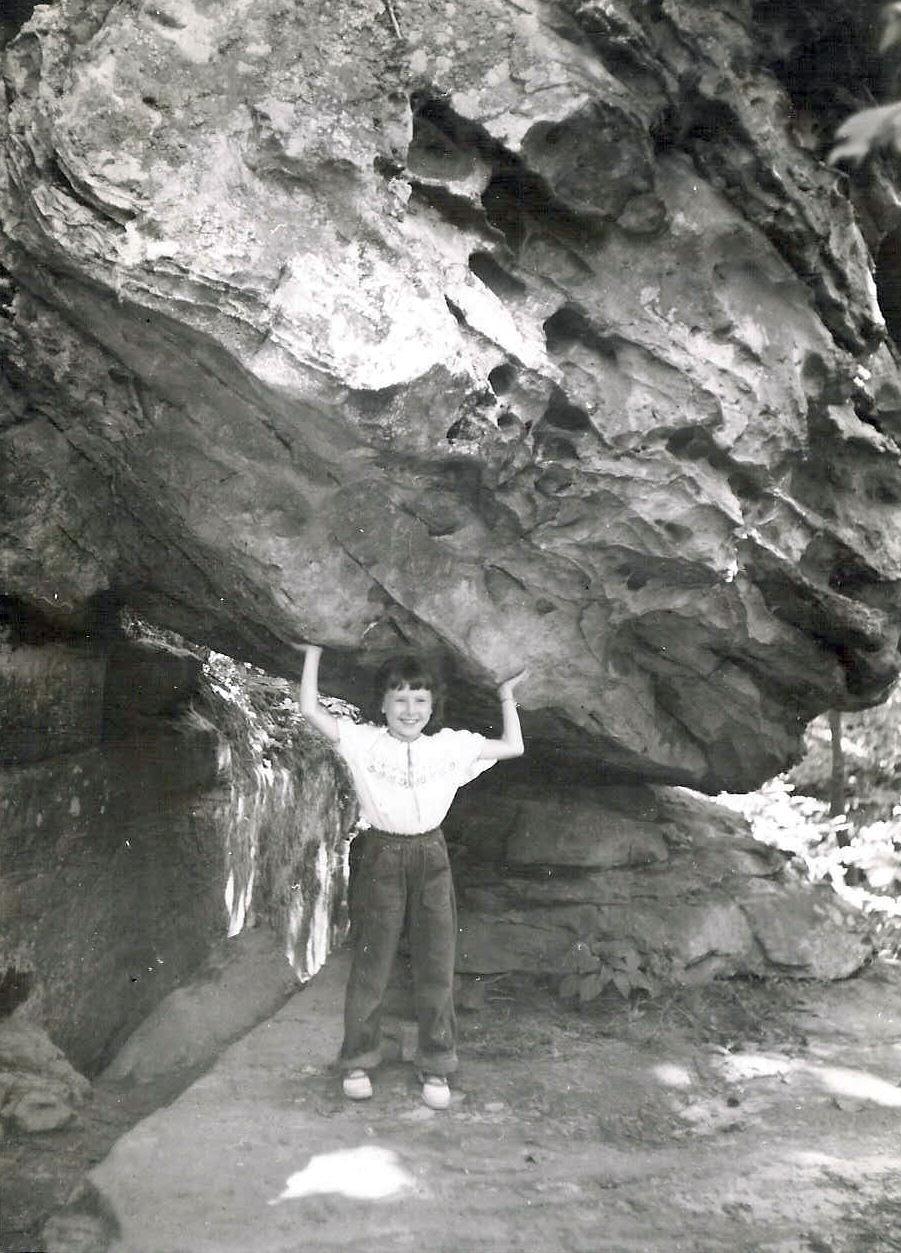 Wanda S. Hanson me holding a boulder.jpg