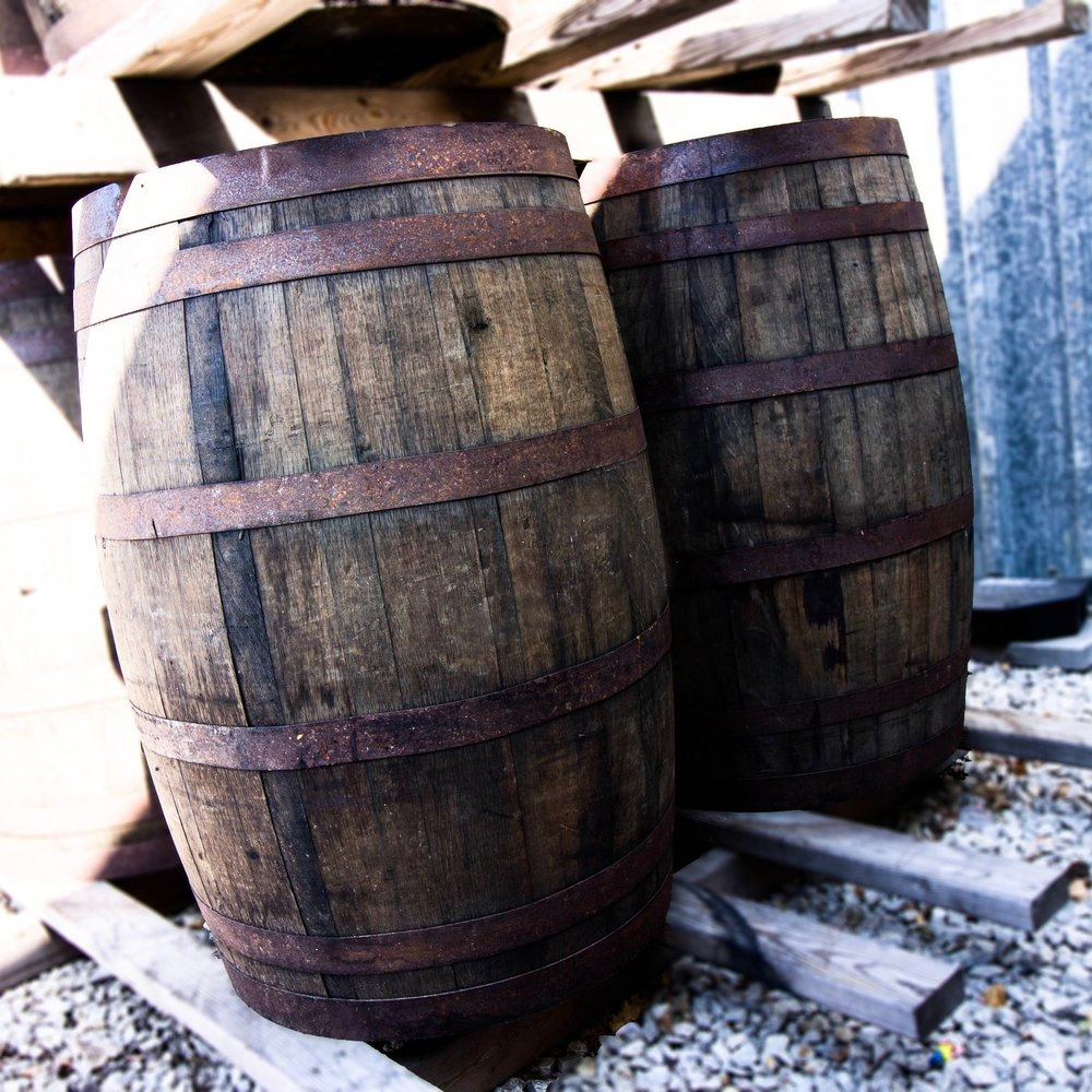 - furniture grade whiskey barrel