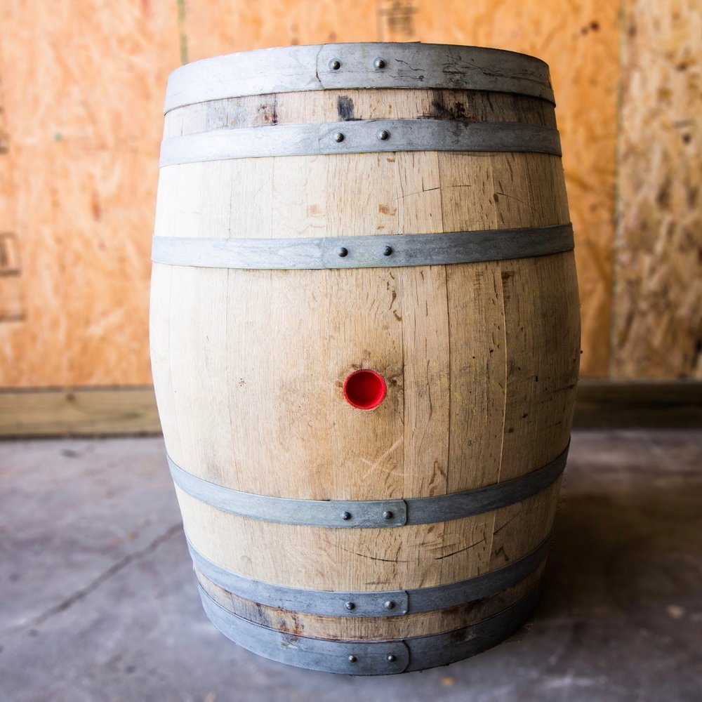 - neutral white chardonnay barrel