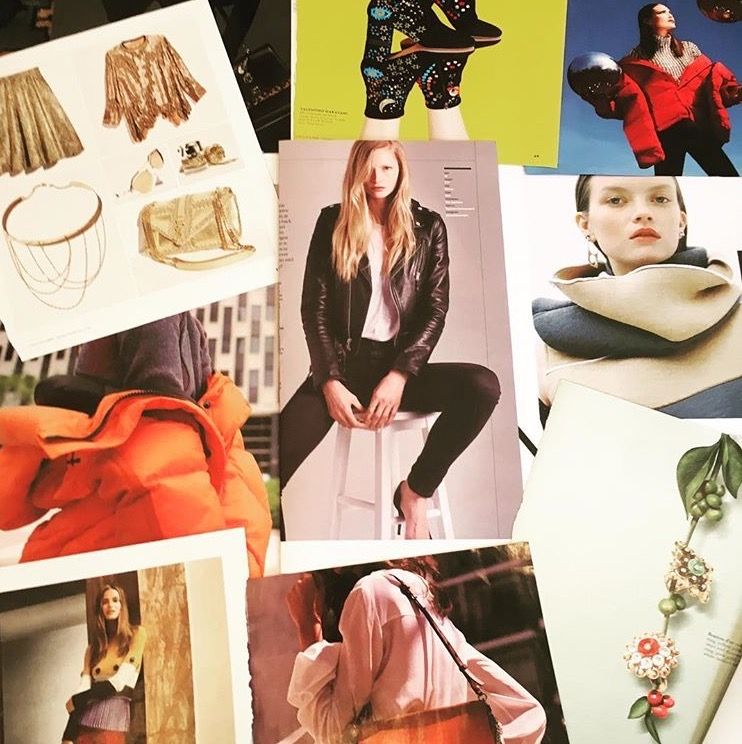 One of the mood boards I made for fashion.
