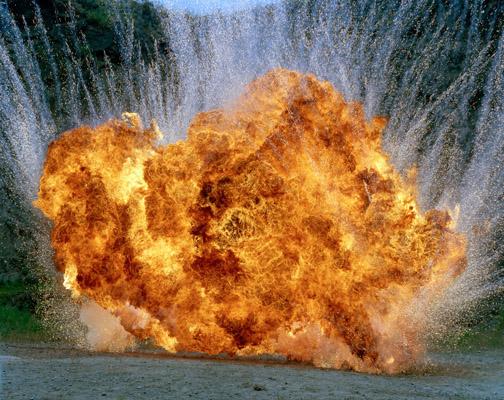 Geoffrey Habberfield Short: 'Untitled Explosion' (8CF_5), 2007-2009
