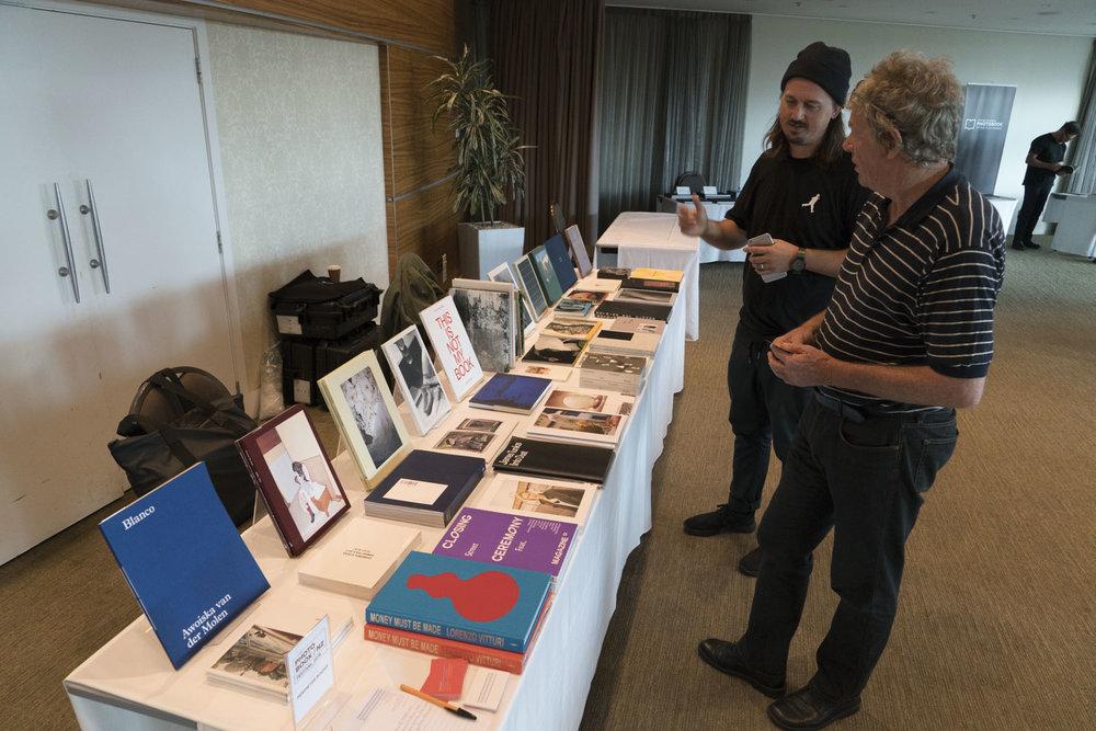 Perimeter Books table, Photobook/NZ 2018, Te Papa, Saturday 10 March.