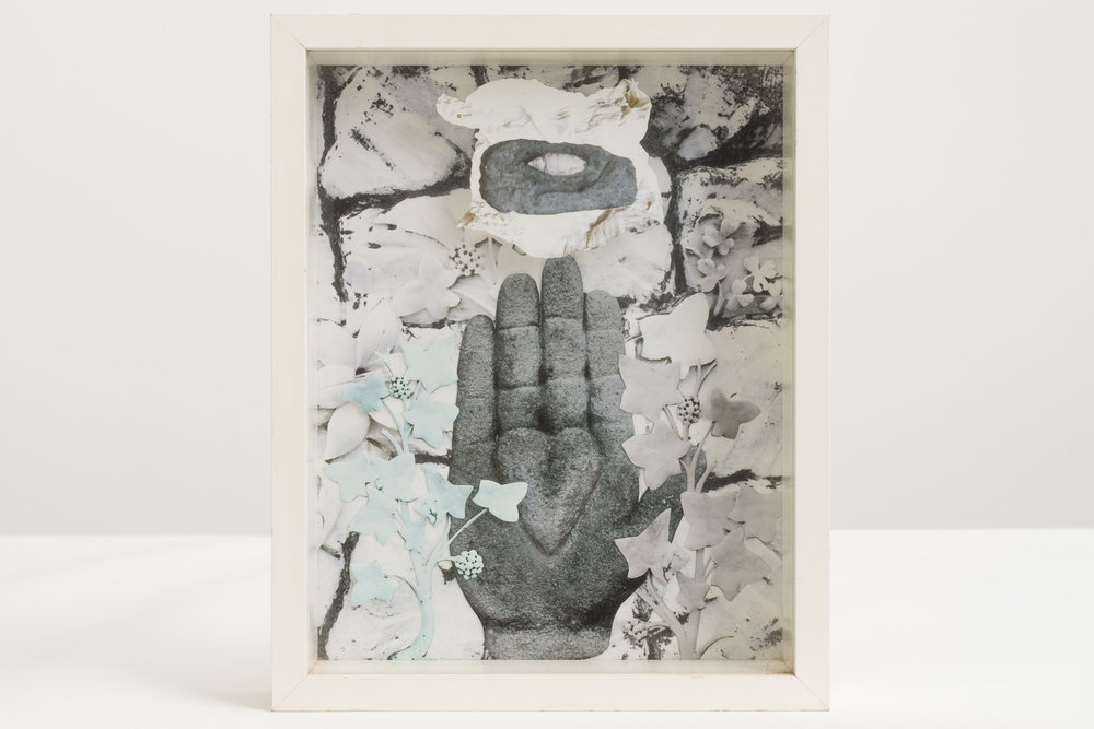 Megan Jenkinson.  Hand to Hand I,  1985. Cibachrome collage.