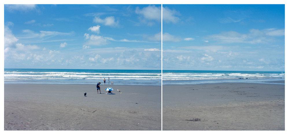 Light moving erratically, Ohope Beach, 2016.