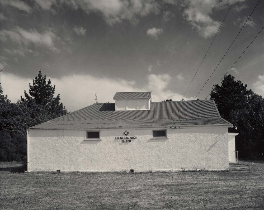 Laurence Aberhart.  Lodge Erewhon No.200, Mount Somers, South Canterbury , January 1982.
