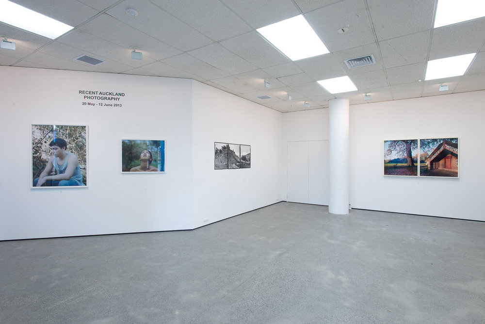 "Installation view of ""Recent Auckland Photography"" exhibition at"