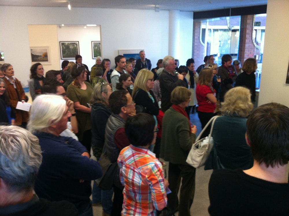 Some of the audience for Ron Brownson's conversation with Haru S