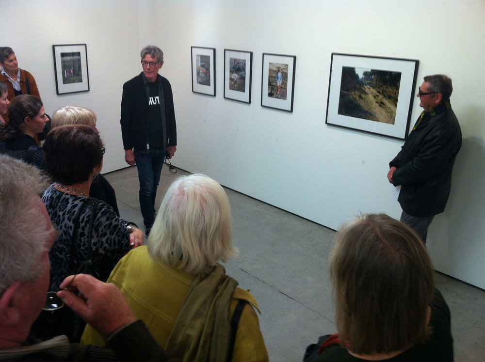 Harvey Benge discusses his work with Ron Brownson, Northart gall