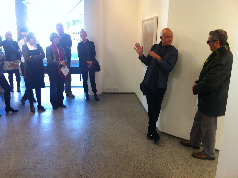 Bruce Connew discusses his work with Ron Brownson, Northart gall