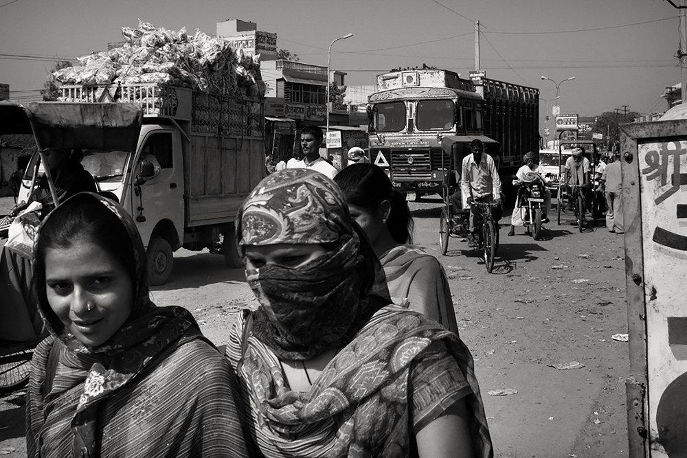 Julian Ward   Two Ladies on Busy Street. Bikaner, Rajasthan, India , 2012