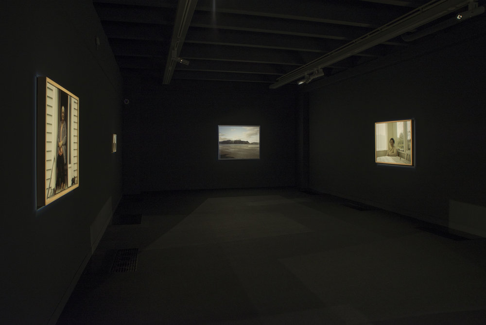 Installation view, Ngahuia Harrison, Kirk Gallery from  The earth looks upon us /   Ko Papatūānuku te matua o te tangata . All installation shots are by Shaun Matthews.
