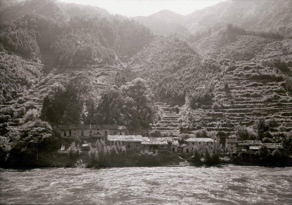 Steep terraced hills in south-east of Hunan Province, China, May 1956. (RDH C05-03)