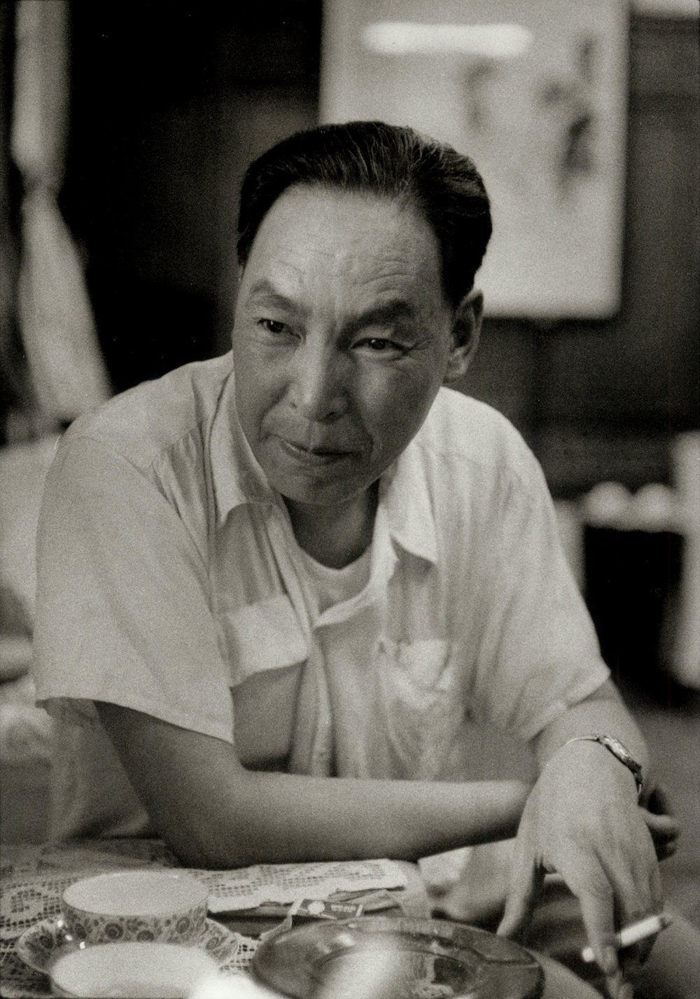 Shao Chu-Li, writer, Peking. China, 1956. C037-10)