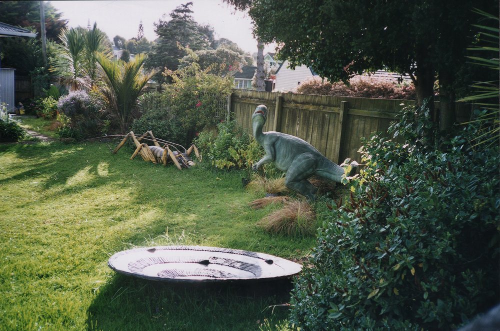 Weta and dinosaur, Neil Avenue, c.2004