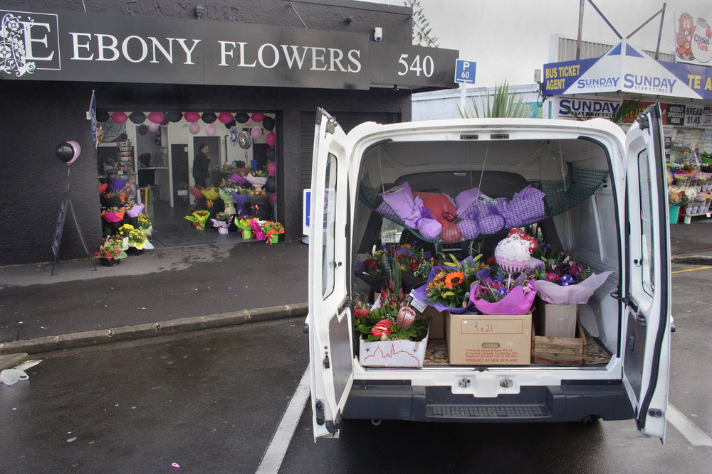 Ebony Flowers, 540 Te Atatu Road, on Mother's Day, 14 May 2006.(JBT11980)