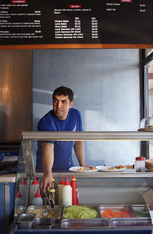 Mathew Rad, Maral Kebabs, Gloria Avenue, 14 February 2006. (JBT10054)
