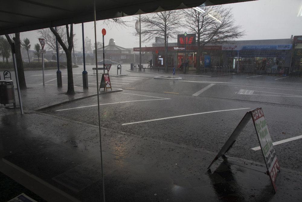 Rain storm, Te Atatu Road, 18 June 2011. (JBT©20110618-097)
