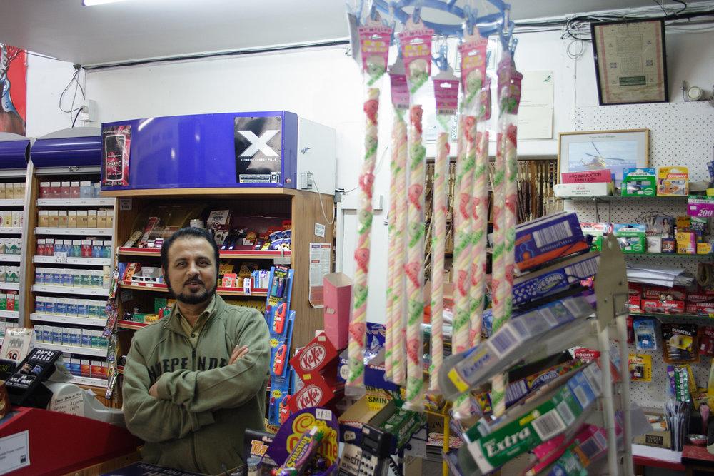 . Ismail, Peninsula Supermarket, corner Wharf and Te Atatu Roads, 28 May 2006. (JBT12690)