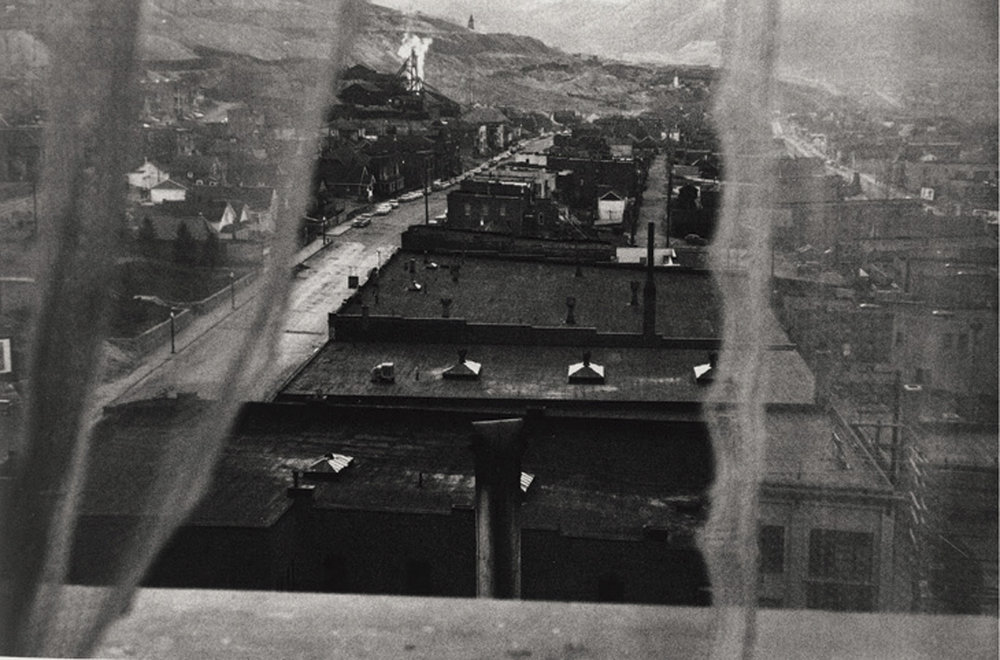 Robert Frank:  View from hotel window - Butte Montana  (1956)