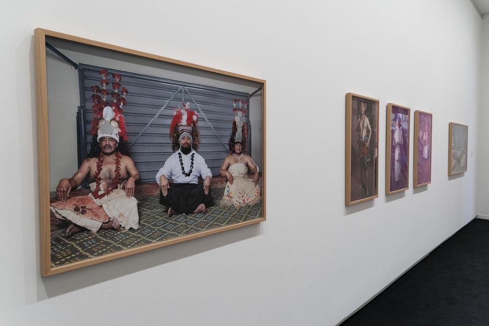 """Pati Solomona Tyrell, """" M ā tua II """" 2015; """" Malosogia""""  2014; """" Mātua  I"""" 2015. Walters Prize 2018"""