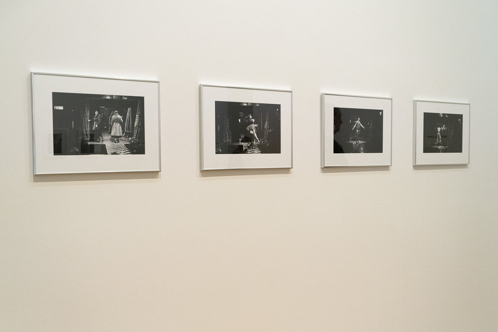 """Barry Myers, """"Ruby and Pearl at the Pink Pussycat, 1973"""". Installation view at """"Groundswell: Avant Garde Auckland 1971-1979""""."""