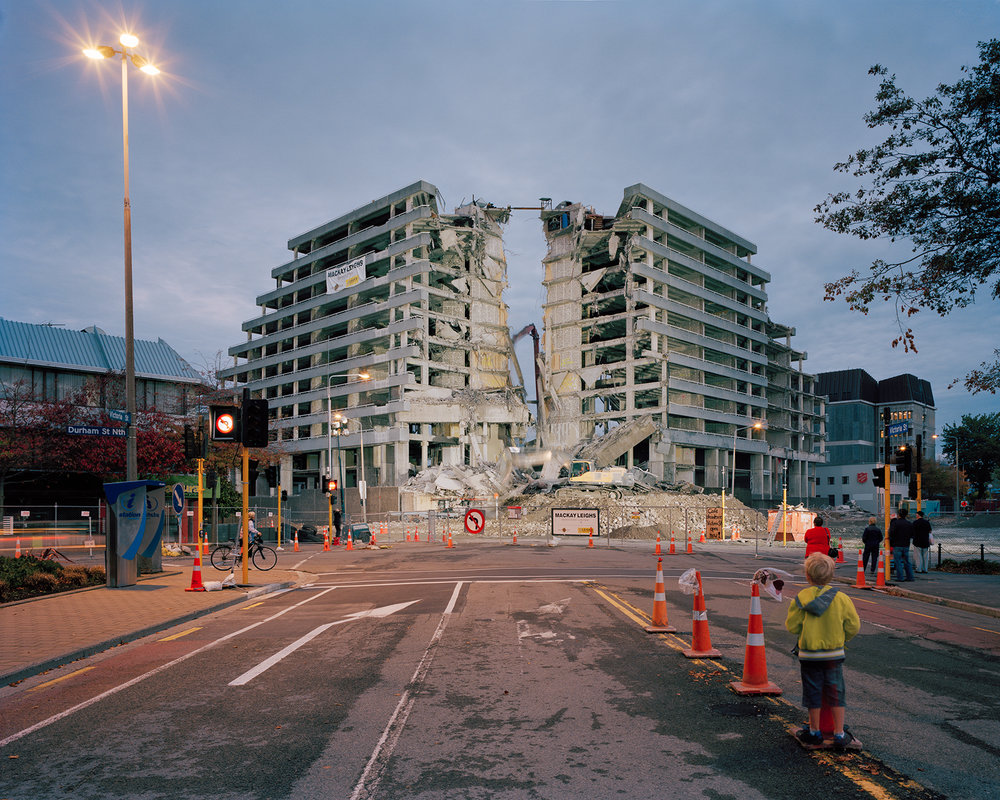 Tim J Veling,  Demolition of Crowne Plaza Hotel  from  Adaptation.