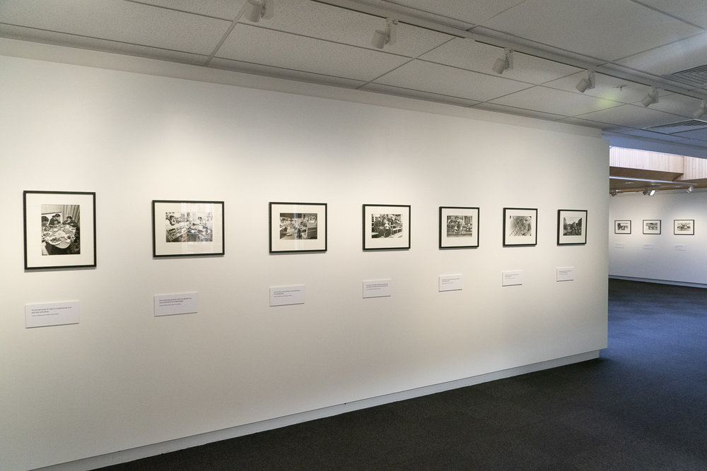 "Installation view of the exhibition ""Beyond Thames Street"" at Waikato Museum, January 2019"