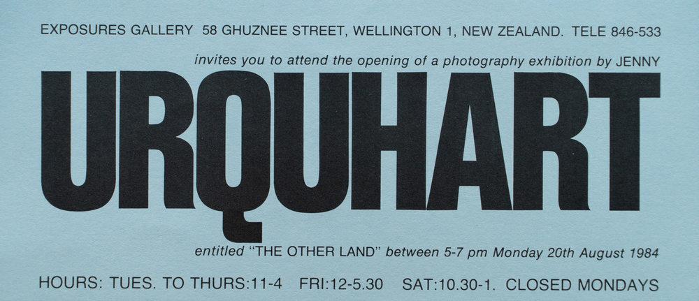 Jenny UrquhartThe Other Land20 August – 8 September, 1984